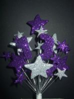 NUMBER AGE 13TH BIRTHDAY CAKE TOPPER IN PURPLE AND SILVER - Free postage